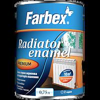 Эмаль акриловая для радиаторов отопления Farbex, 0,75 кг белый
