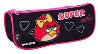 """Пенал школьный  AB03362  """"Angry Birds"""", черный прямоугольный"""