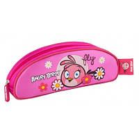 """Пенал школьный  AB03383  """"Angry Birds"""", розовый овальный"""