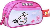 """Пенал школьный  AB03358  """"Angry Birds"""", розовый овальный"""