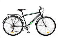 """Велосипед Discovery Prestige Man 26"""" 14G Vbr St 2016 (OPS-DIS-26-030-1) с багажником черно-серо-зеленый"""