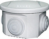 Коробка монтажная наружная 50х50х 4 входа круглая ST108