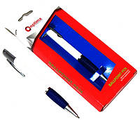 Ручка шариковая подарочная в блистере Optima O17109 Edelweis 0,5 мм серебистая