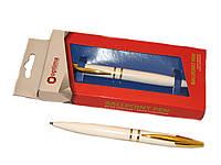 Ручка шариковая подарочная в блистере Optima O17114 Arrow 0,5 мм белая