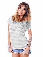 Полупрозрачная женская футболка (в расцветках) белый, XS