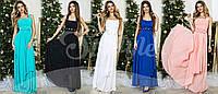 Платье вечернее в пол , ткань масло, шифон( пояс с цветами съемный), много расцветок , фото реал АС № 053-35