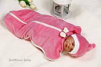 Велюровая пеленка для новорожденных для девочки