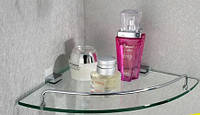 Полочка для ванной комнаты угловая настенная, фото 1