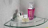 Полочка для ванной комнаты угловая настенная