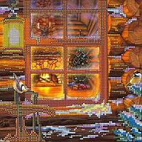 """Рисунок-схема для вышивки бисером на холсте """"Накануне Рождества"""" (20 х 20 см) AC-072 Abris Art"""