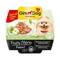 GimDog LD Fruity Menu Ragout with Turkey, Apple and Vegetables рагу из кусочков индейки, яблок и овощей для собак мелких пород, 100г
