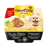 GimDog LD Fruity Menu Ragout with Tuna, Pineapple and Vegetables рагу из кусочков тунца, ананаса и овощей для собак мелких пород, 100г