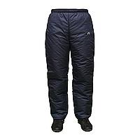Теплые спортивные темно-синие мужские брюки на синтепоне  A1515