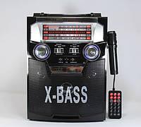 Музыкальный центр (радио) 3в1 ретро NewKanon KN-62, активная акустика с микрофоном, радиоприемник колонка