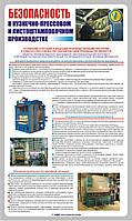 Стенд. Безопасность в кузнечно-прессовом и листоштамповочном производстве. (Рус.) 0,6х1,0. Пластик