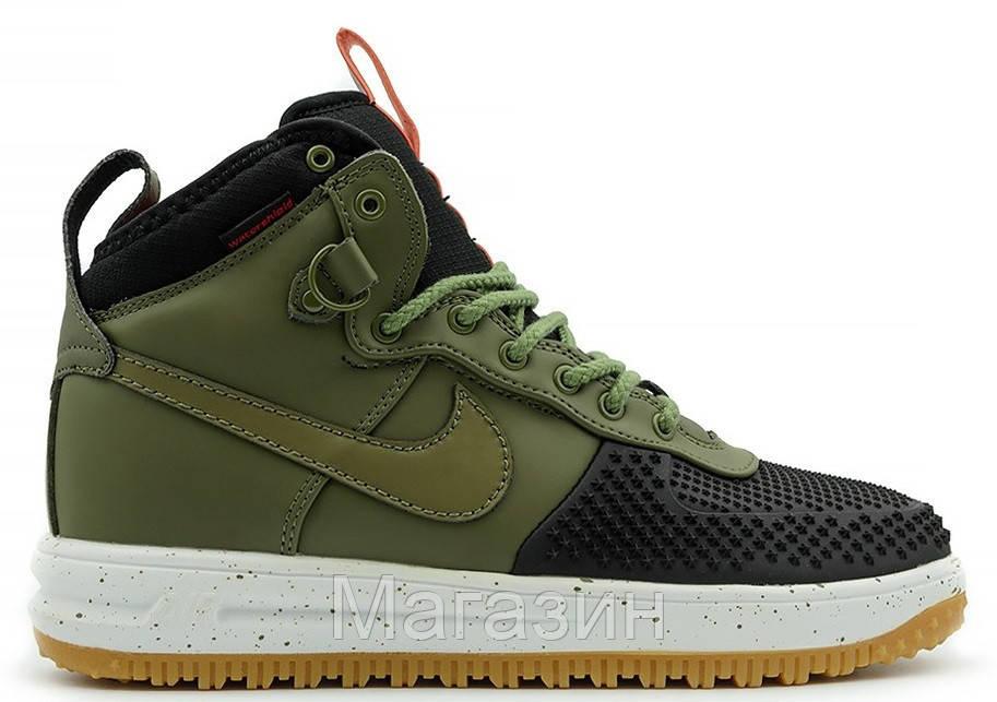 Мужские высокие кроссовки Nike Lunar Force 1 Duckboot Найк Форс Дакбут хаки  - Магазин обуви New 4d5bbd71fe4