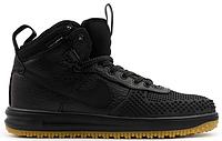 Мужские высокие кроссовки Nike Lunar Force 1 Duckboot, Найк Форс черные