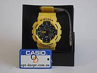 Спортивные часы CASIO G-SHOCK GA-100 УELLOW