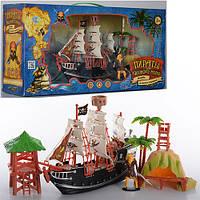 Детский игровой набор Пираты M 0513 U/R, 26см, вышки 2шт, фигурка, в кор-ке,