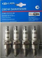 Комплект свечей зажигания к-т=4шт с карб.двиг. ВАЗ 2101-07 (АвтоВАЗ)