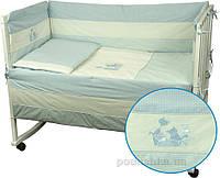 Спальный комплект для детской кроватки Руно 977 Кошенята голубой