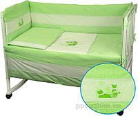 Спальный комплект для детской кроватки Руно 977 Кошенята салатовый