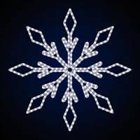 Світлодіодні сніжинки вуличні SN-1х1. Світлове прикраса. LED гірлянда. Новорічна гірлянда.