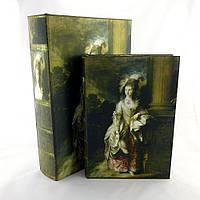 Шкатулка - книга (набор 2 шт ) Барышня