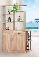 Барный шкаф для гостиной Бриз 1, барная стойка со шкафом в современном стиле, 1200*1950*360