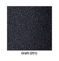 Гранитная мойка для кухни 60 см Galati Patrat Grafit (201), фото 3