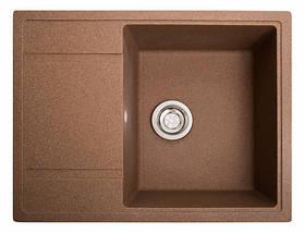 Кухонная мойка с крылом коричневая 65 * 50 см Galati Jorum 65 Teracotă (701), фото 2