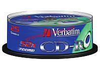 Диск VERBATIM CD-R 700Mb 52x Cake 25 Extra 43432 (43432)