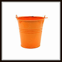 Ведро декоративное цветное (маленькое), цвет оранжевый