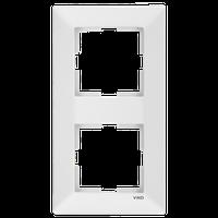 Рамка двойная вертикальная Viko Meridian белая