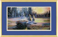 Набор для вышивки крестиком №529 Зимний пейзаж