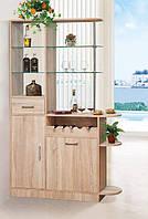 Барная стойка Бриз 2, барная стойка шкаф для кухни или гостинной 1200*1950*360