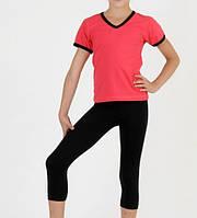 Комплект спортивный бриджи + футболка для девочки