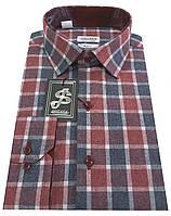 Теплая мужская рубашка в клетку №S10-25 - 20-462 V5 RC, фото 1