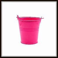 Ведро декоративное цветное (маленькое), цвет розовый