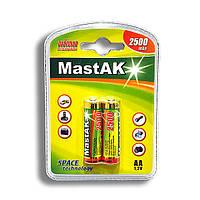 Аккумулятор пальчиковый Mastak AA 1,2v 2500mAh ( Ni-Mh ) (упаковка-2шт.)