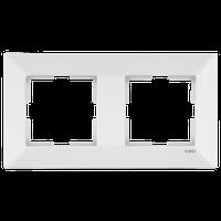 Рамка двойная горизонтальная Viko Meridian белая