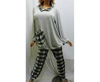 Пижама с длинным рукавом баталл