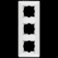Рамка тройная вертикальная Viko Meridian белая