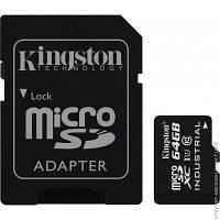 Карта Памяти Kingston microSDXC 64GB Class 10 UHS-I Industrial Temperature Card + SD адаптер (SDCIT/64GB)