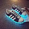 Светящиеся кроссовки ADIDAS SUPERSTAR Черные
