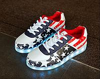 Светящиеся кроссовки Америка, фото 1