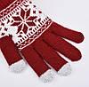Перчатки для сенсорных экранов Touch Gloves Snowflake red (красные), фото 3