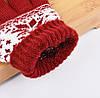 Перчатки для сенсорных экранов Touch Gloves Snowflake red (красные), фото 2