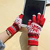 Перчатки для сенсорных экранов Touch Gloves Snowflake red (красные), фото 4