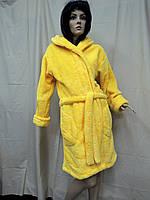 Халат женский короткий домашний желтый